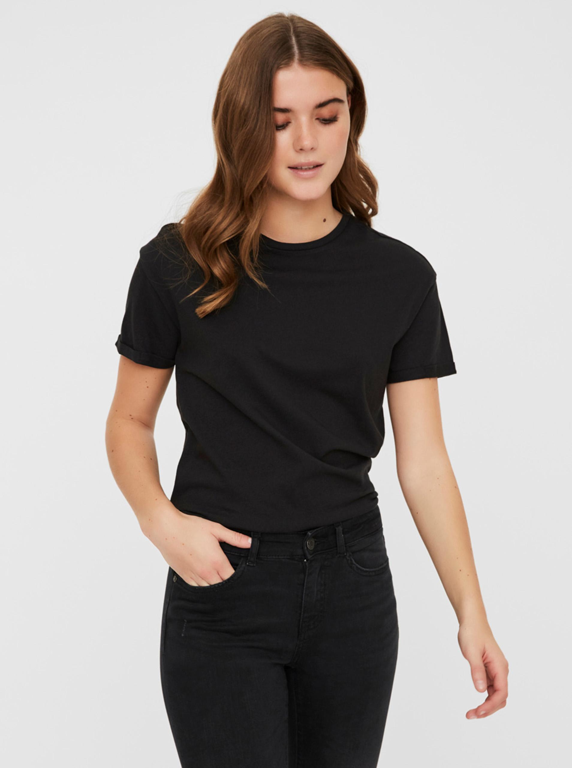 Tricou de bază negru Noisy May Brandy