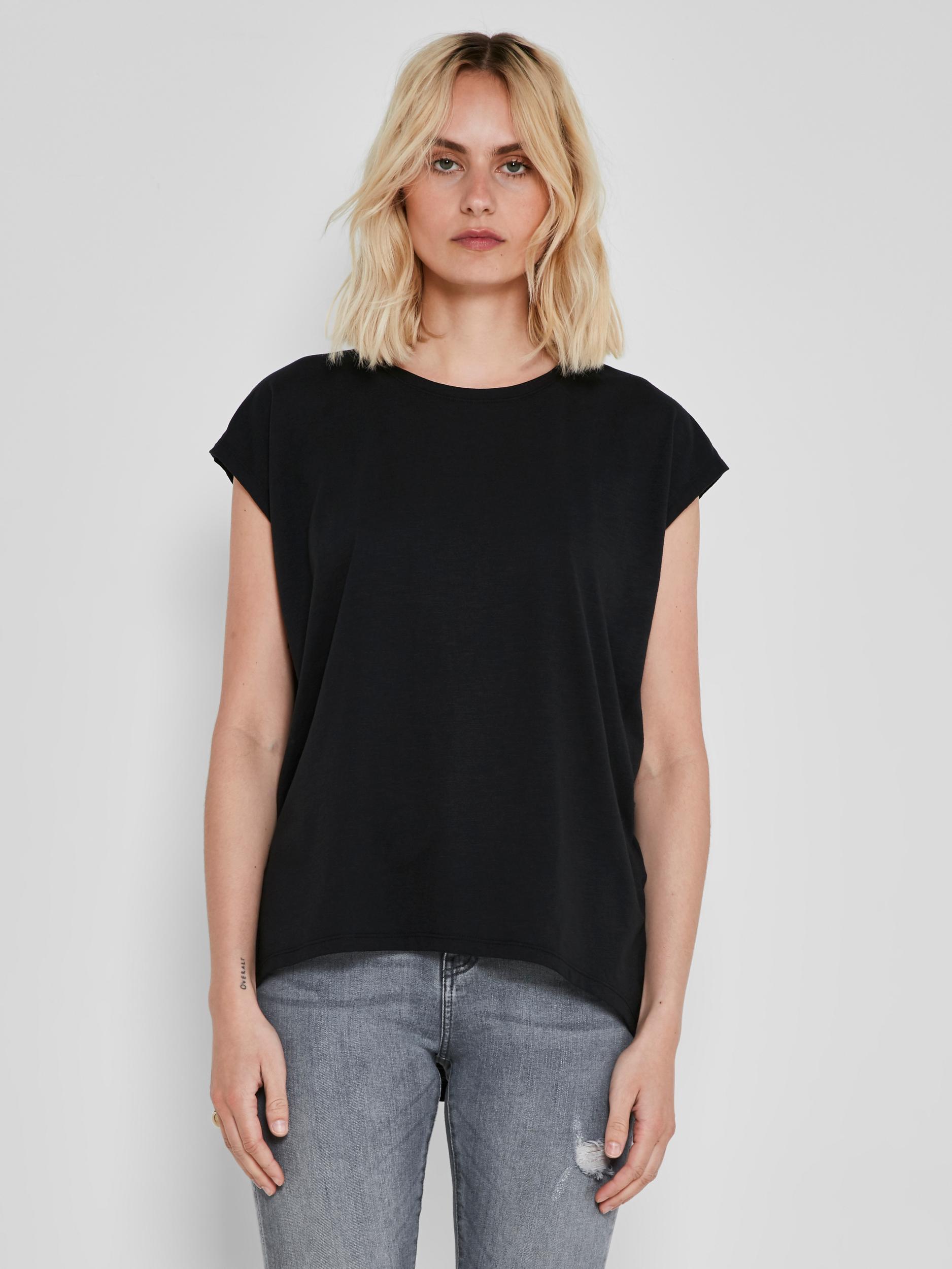 Tricou basic negru Noisy May Mathilde