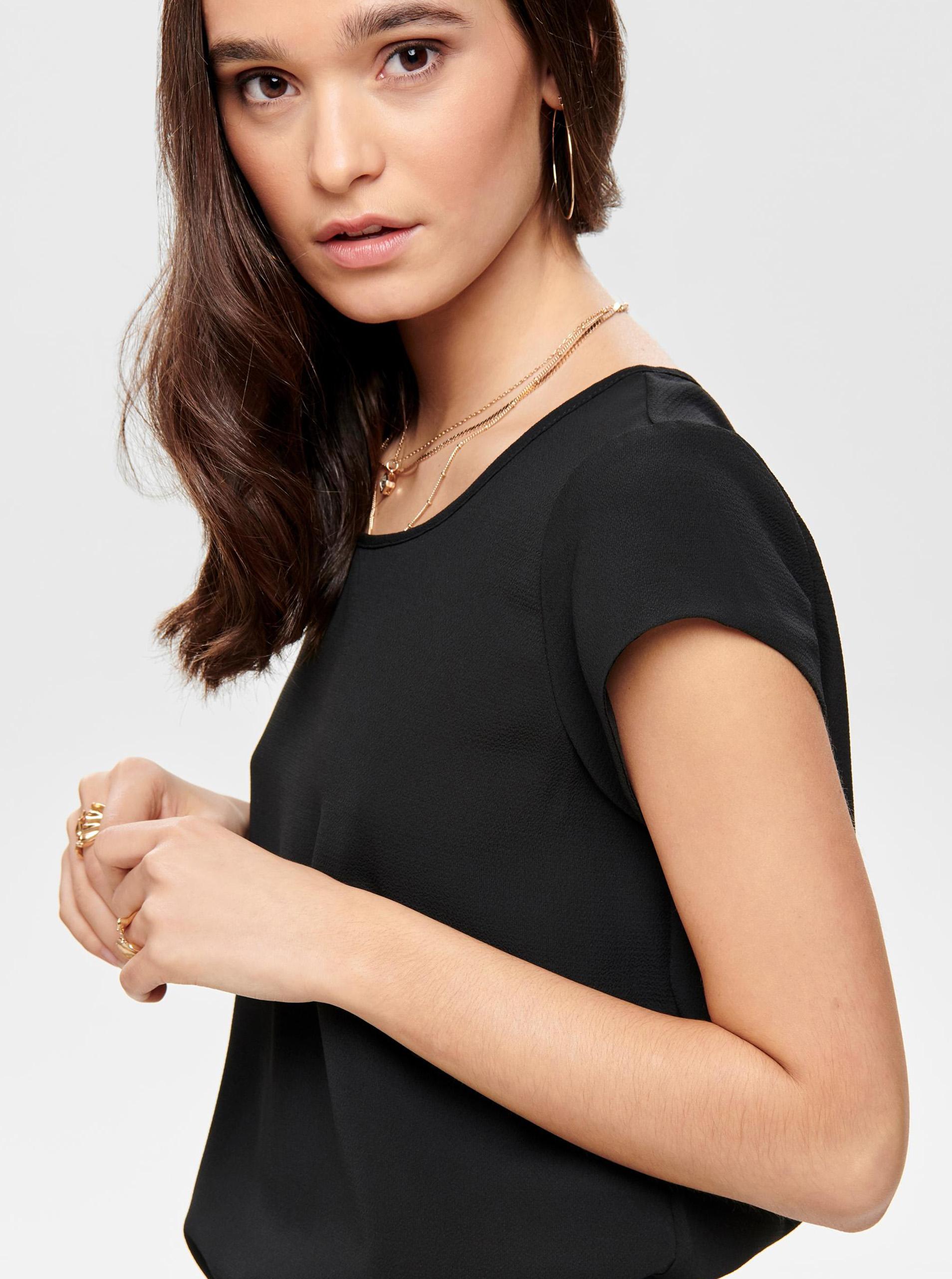 Bluza neagra cu fermoar la spate ONLY Vic