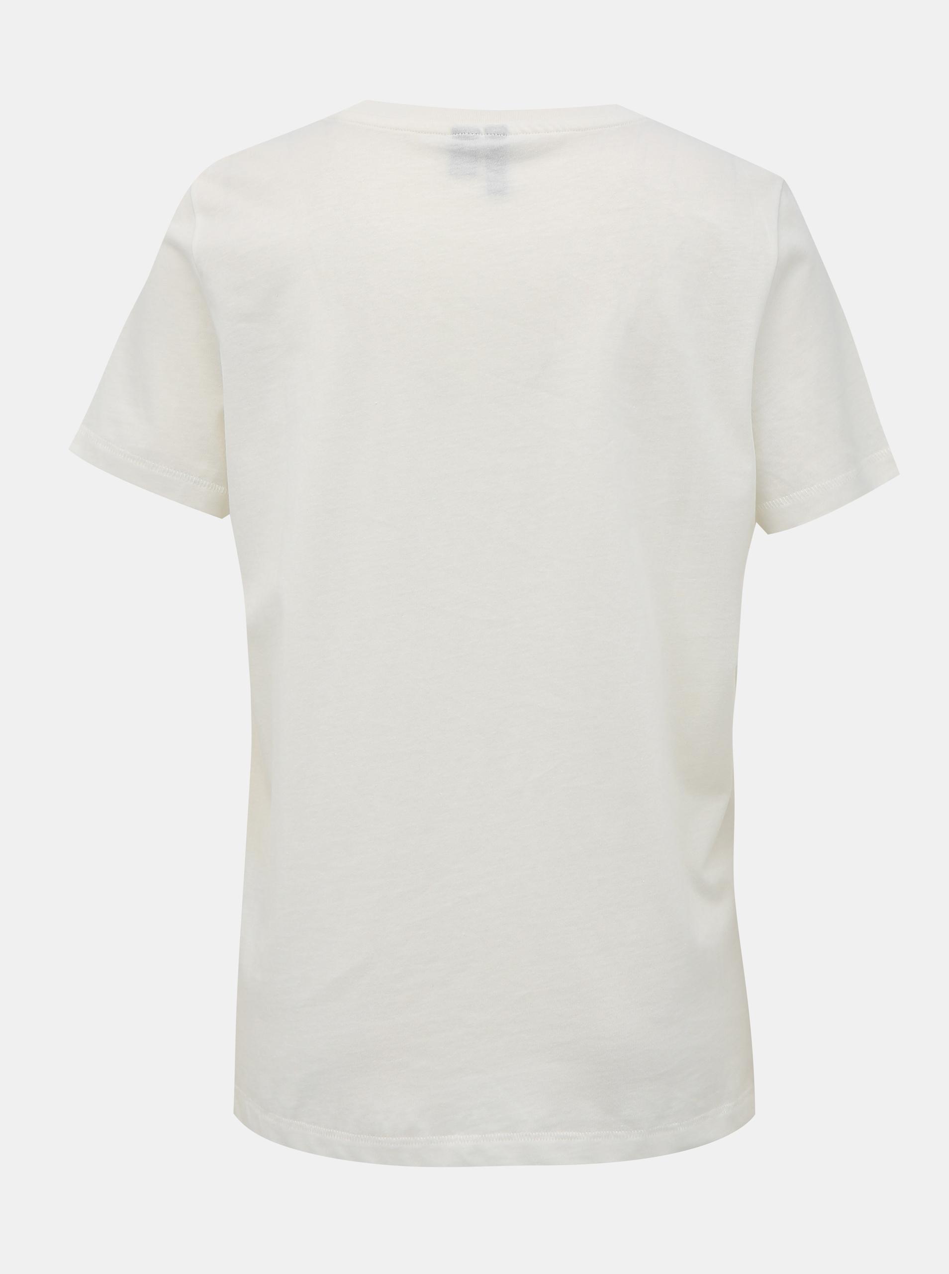 Tricou alb cu imprimeu VERO MODA Desert