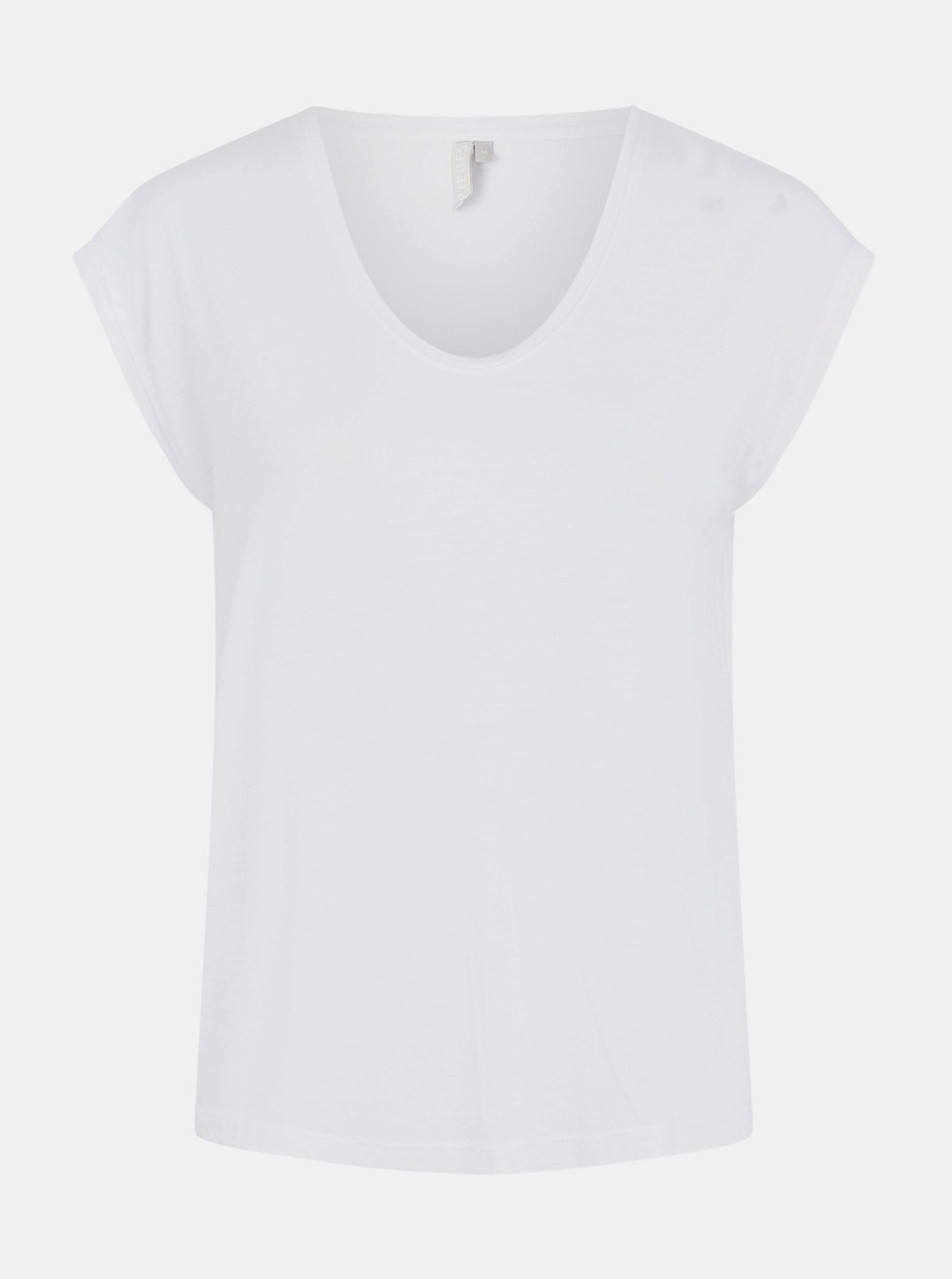 Tricou alb de bază piese Billo