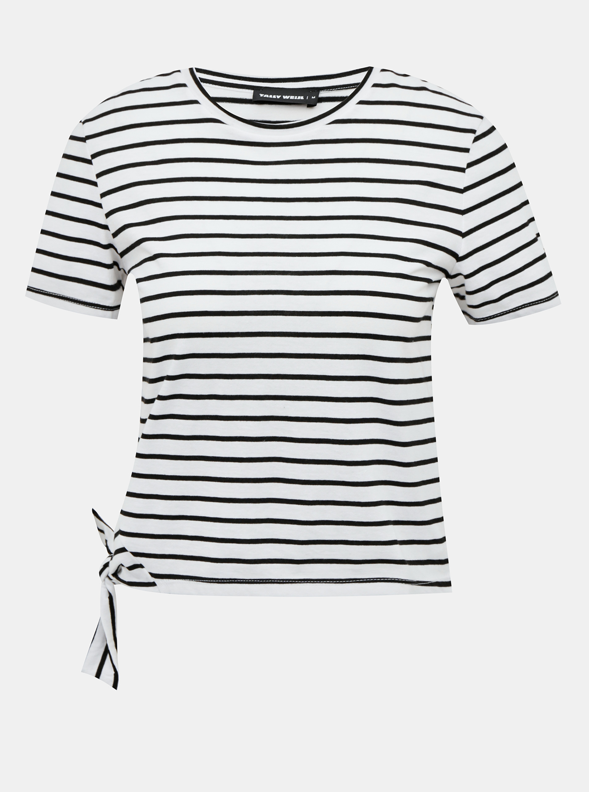 Tricou scurt cu dungi alb-negru TALLY WEiJL