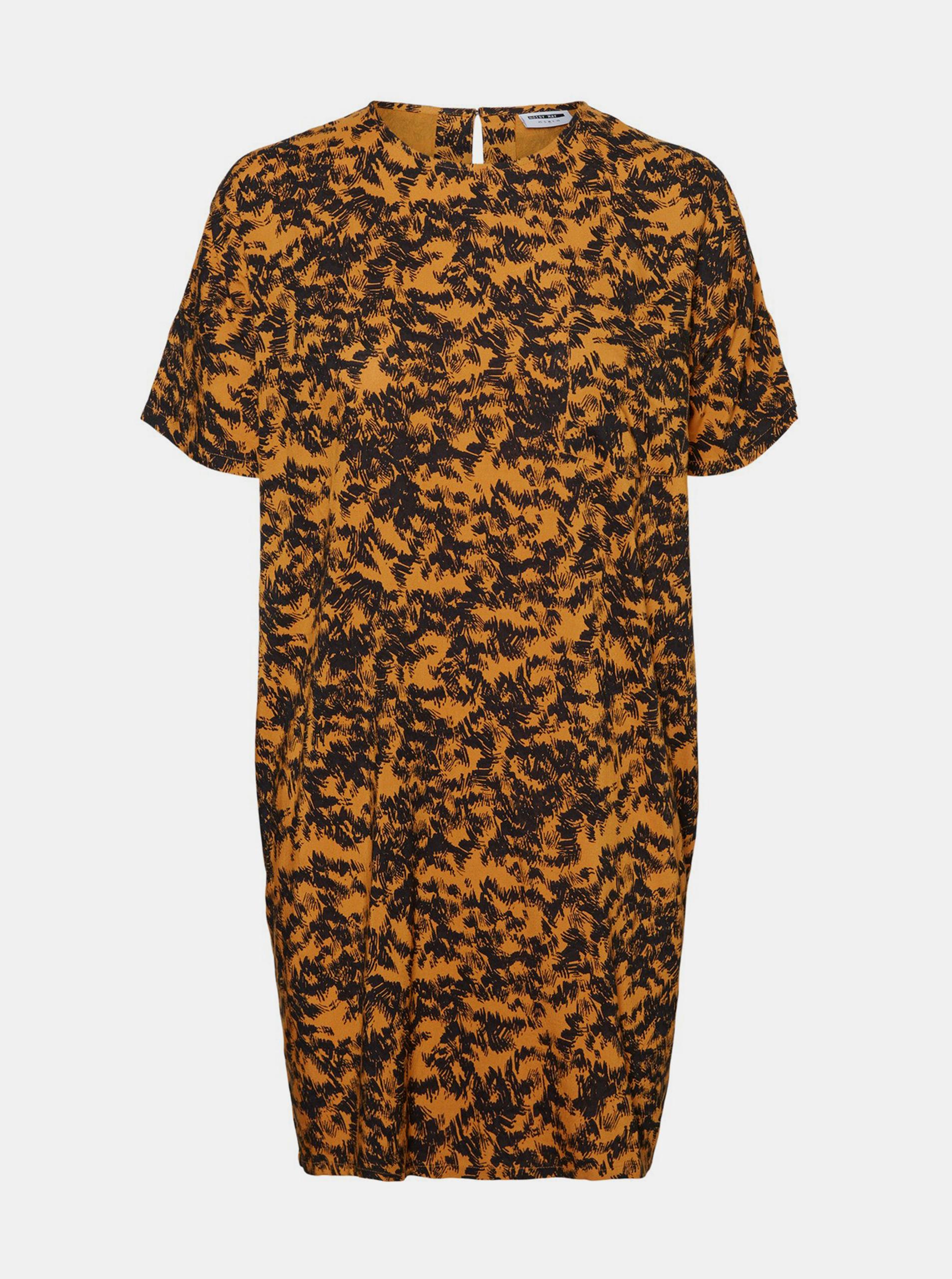 Rochie liberă cu model portocaliu, Noisy May Cille