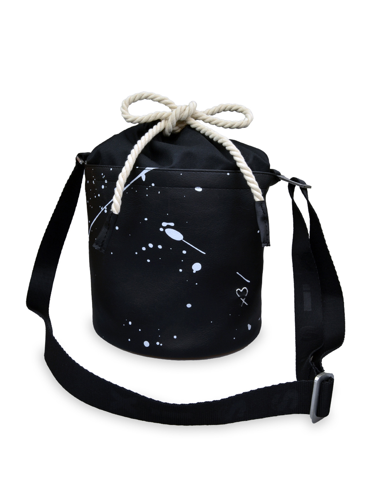 Xiss negre crossbody geanta Mini Black Splash