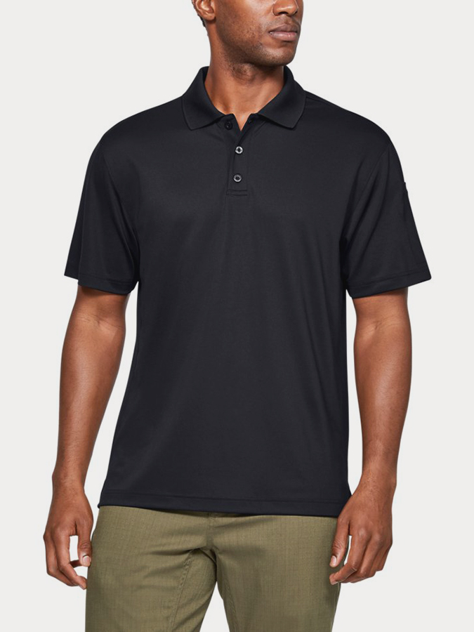 UA TAC PERFORMANCE POLO-BLK