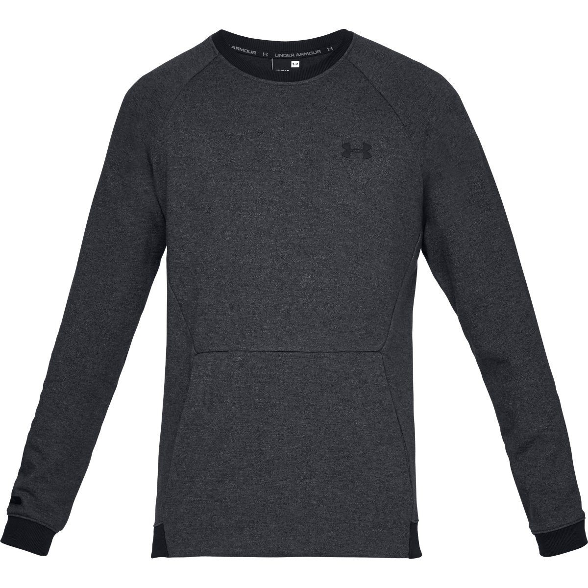 UA UNSTOPPABLE 2X KNIT CREW-BLK