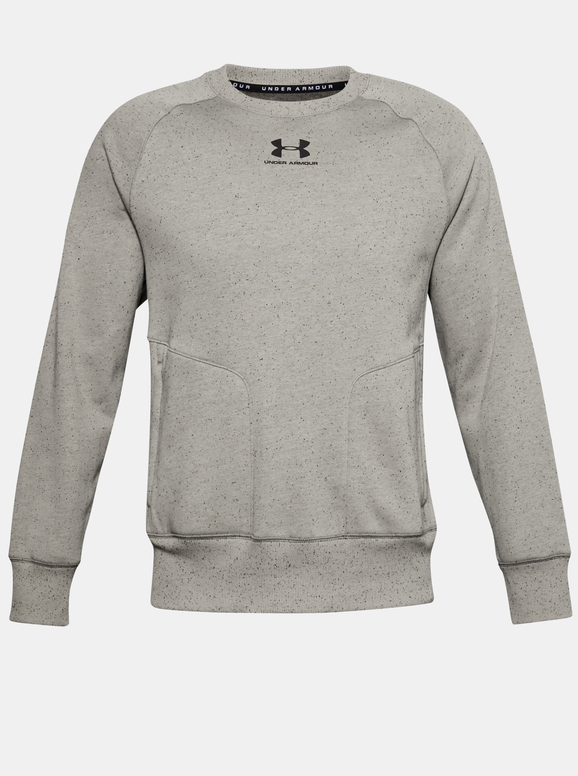 CREW-GRN FLEECE SPECKLED