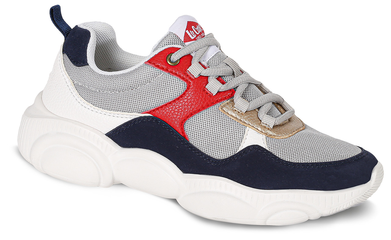 Lee Cooper albe tenisi Tricolor with Gold