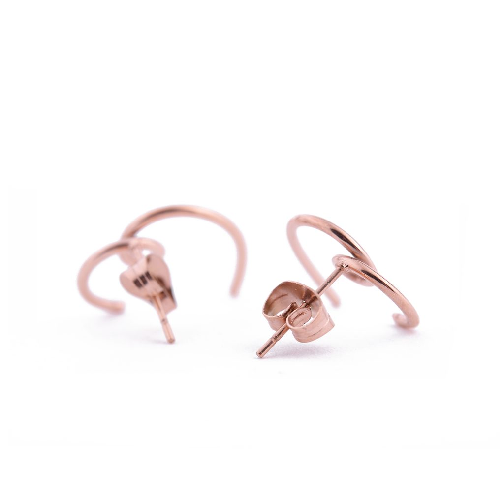 Vuch cercei Heartshape Rose Gold