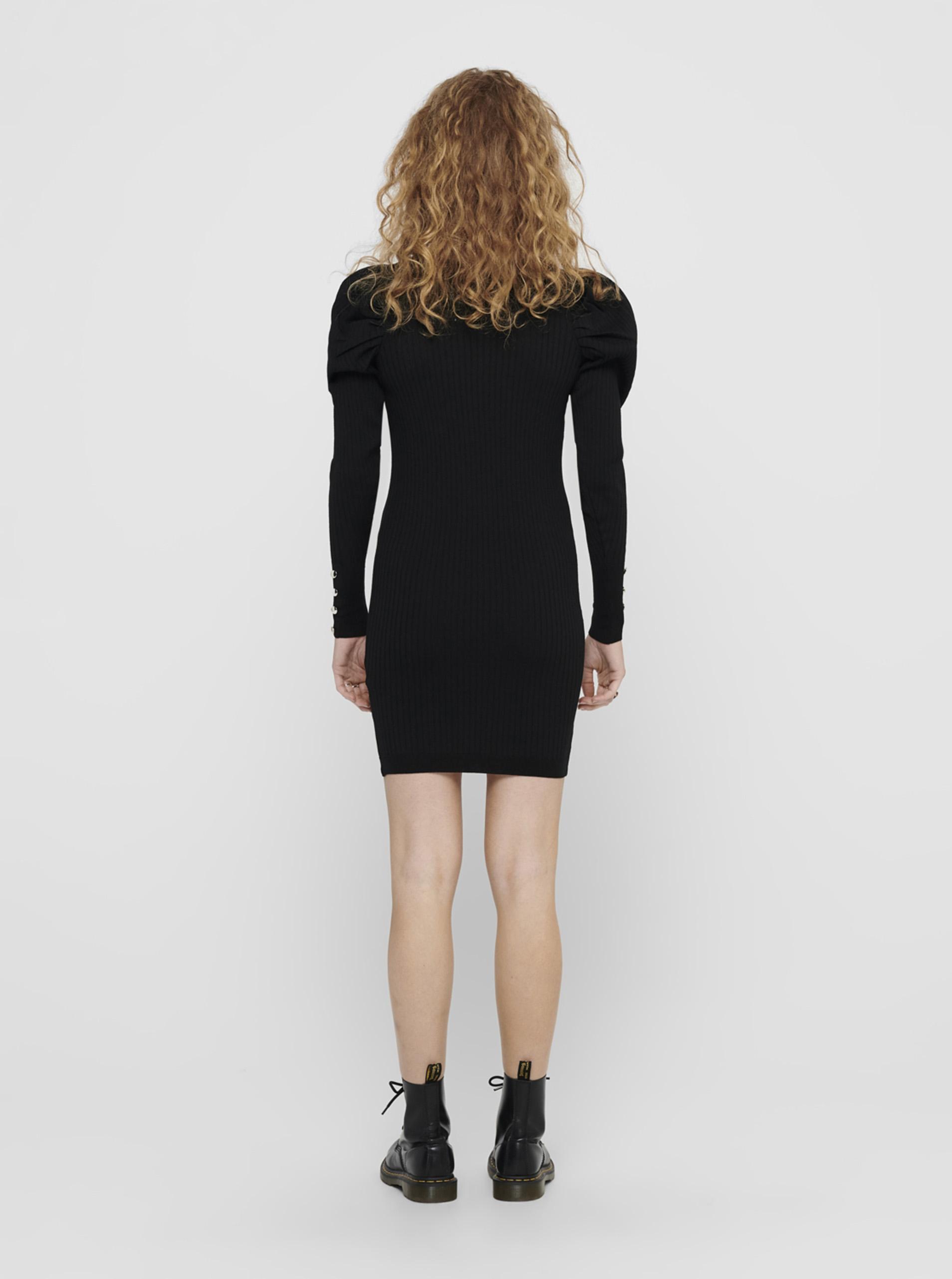 Rochie pulover neagră DOAR Avy