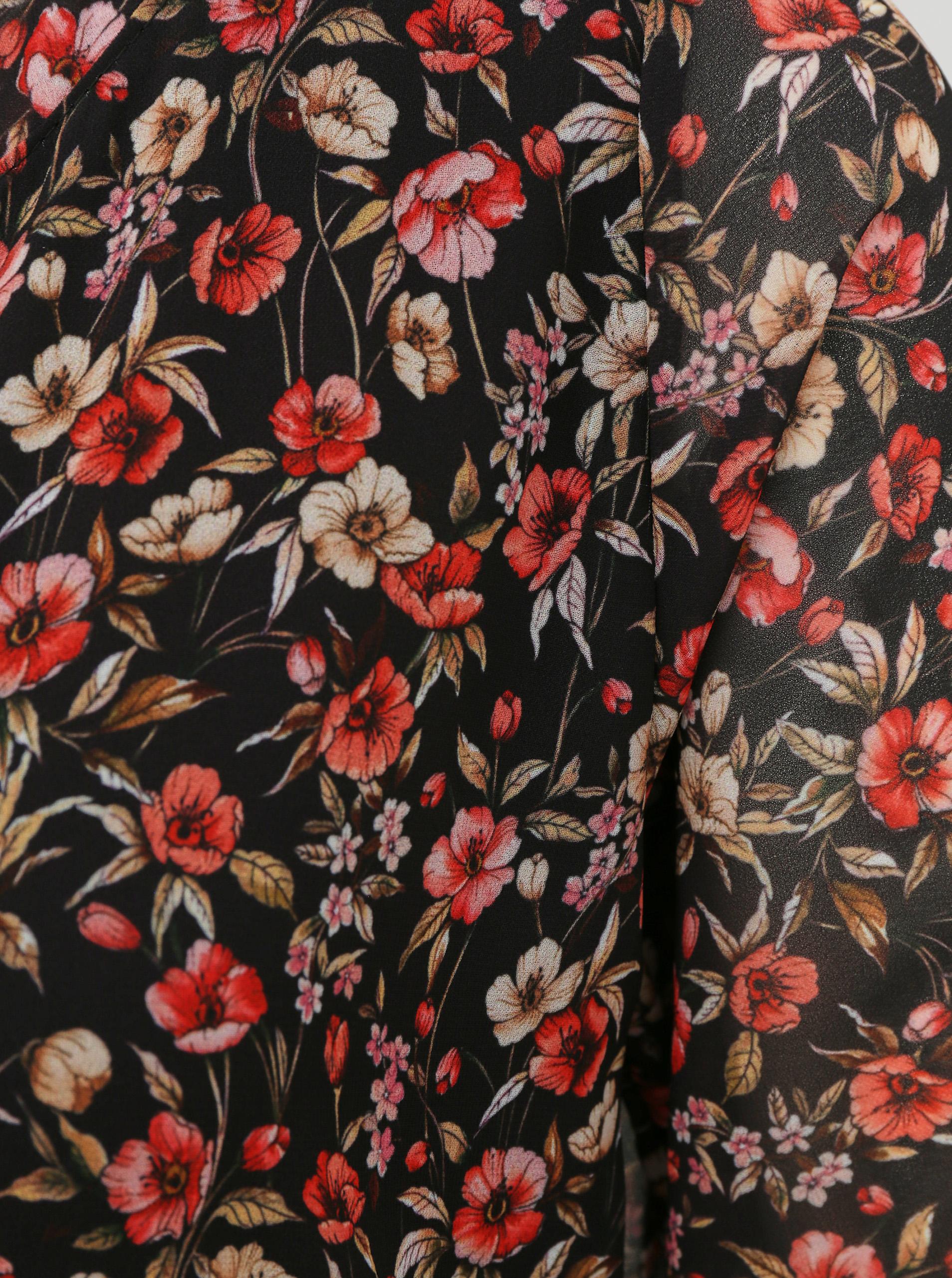 Rochie midi cu flori negre Haily´s