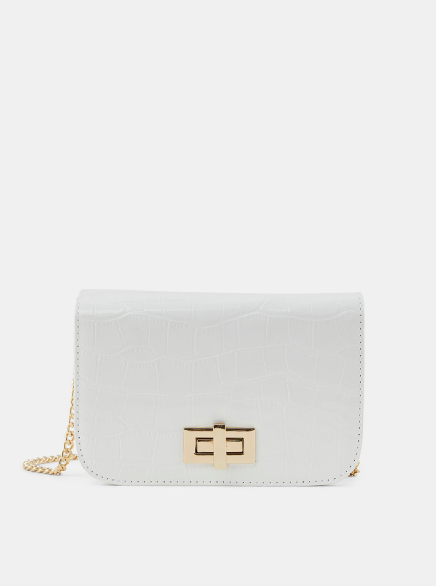 Pieces albe crossbody geanta