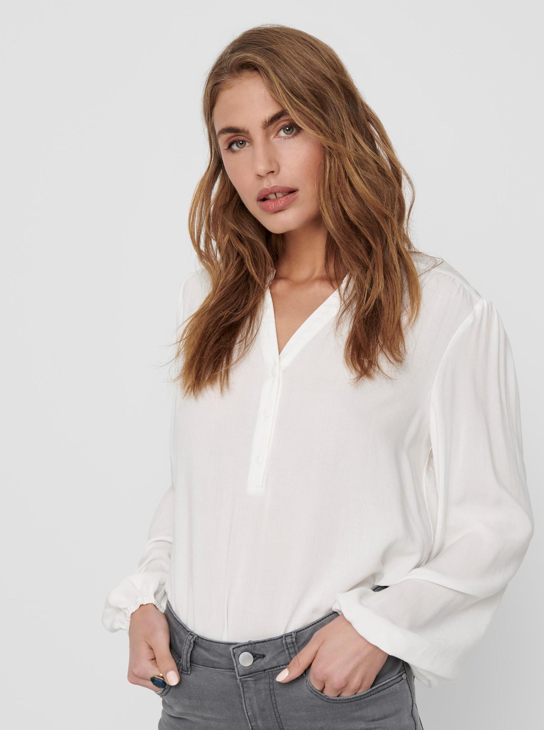 Jacqueline de Yong albe bluză Marlon
