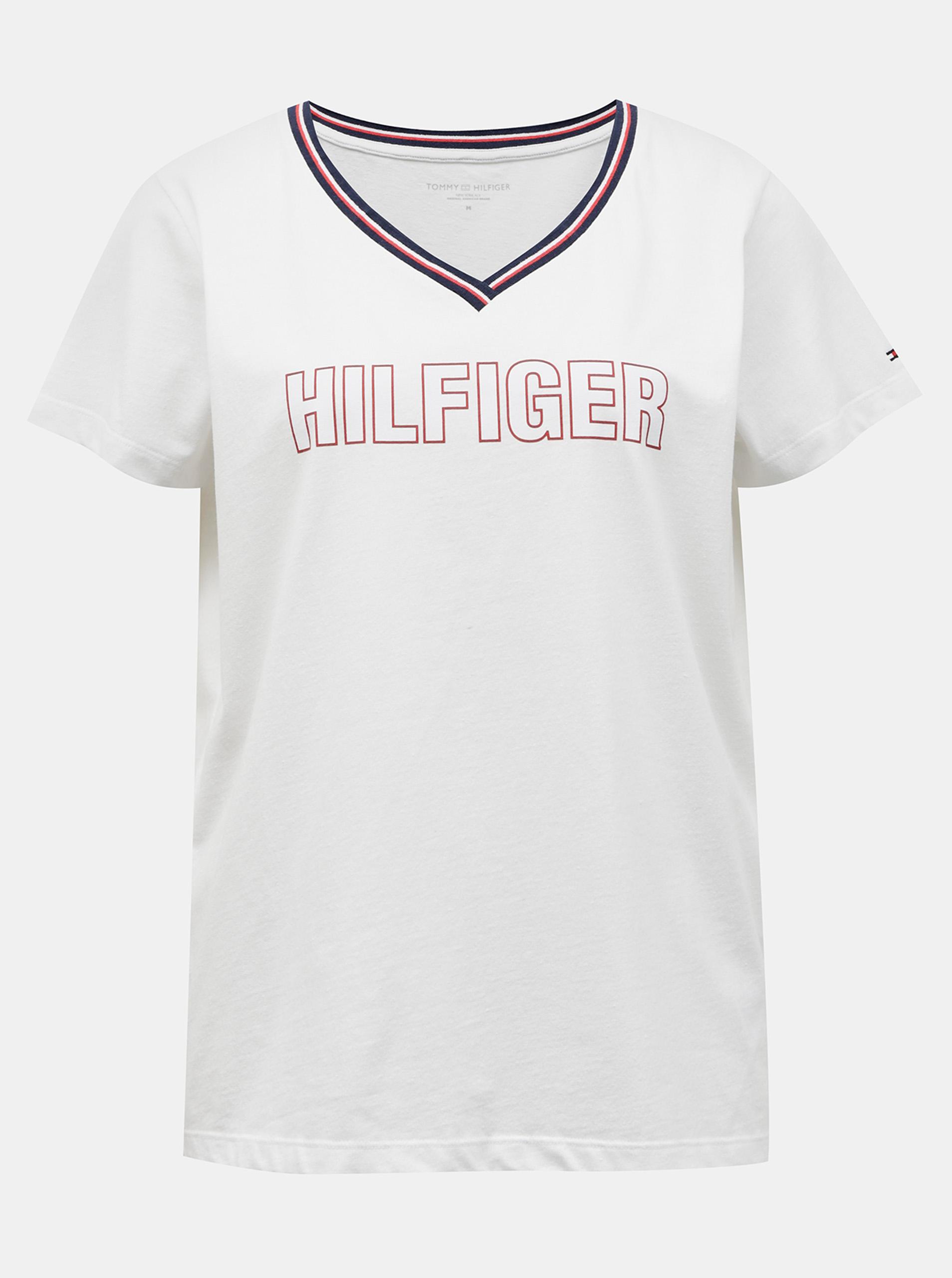 Tommy Hilfiger albe de dama tricou CN TEE SS cu logo