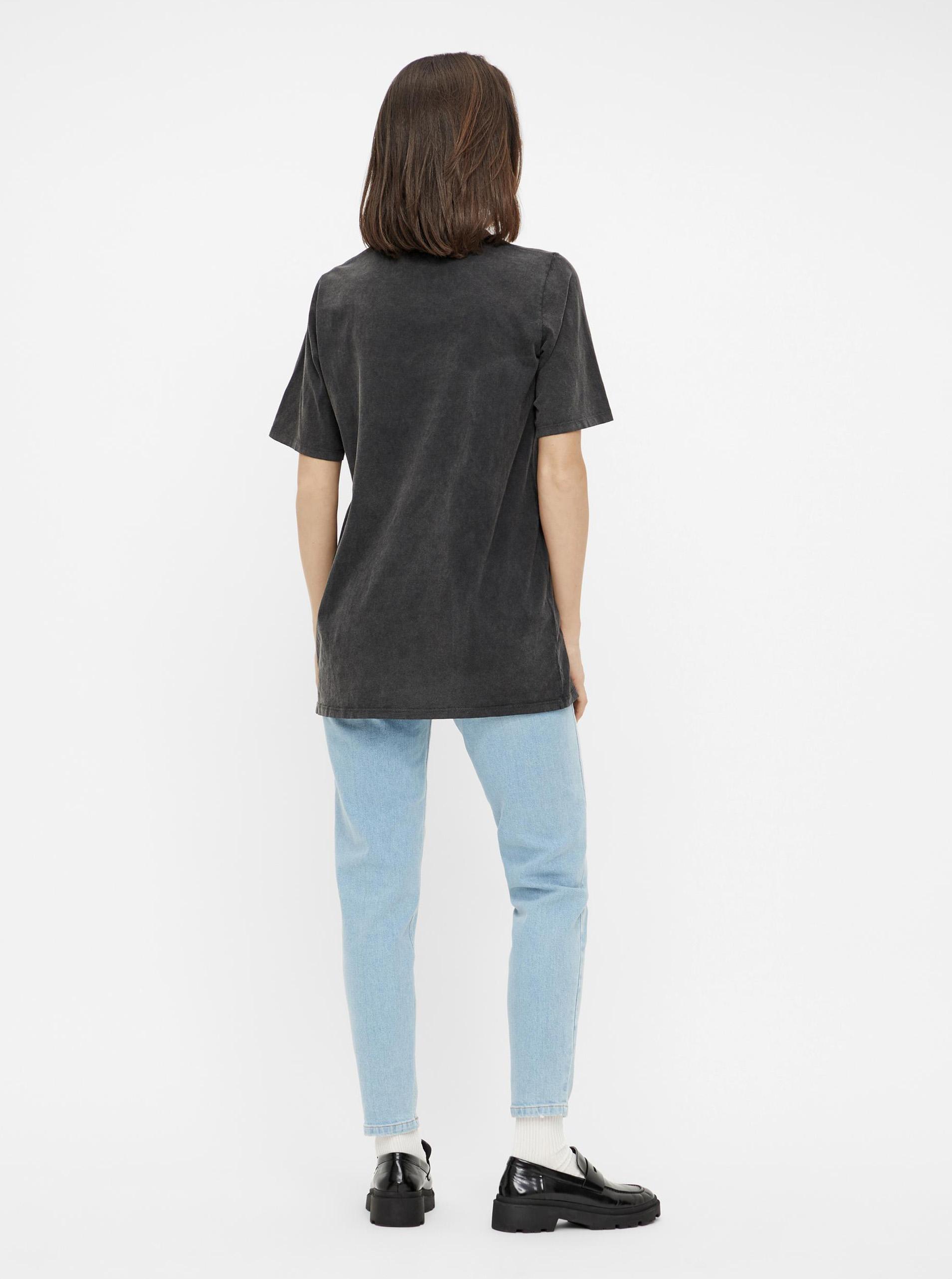 Pieces negre de dama tricou cu imprimeu