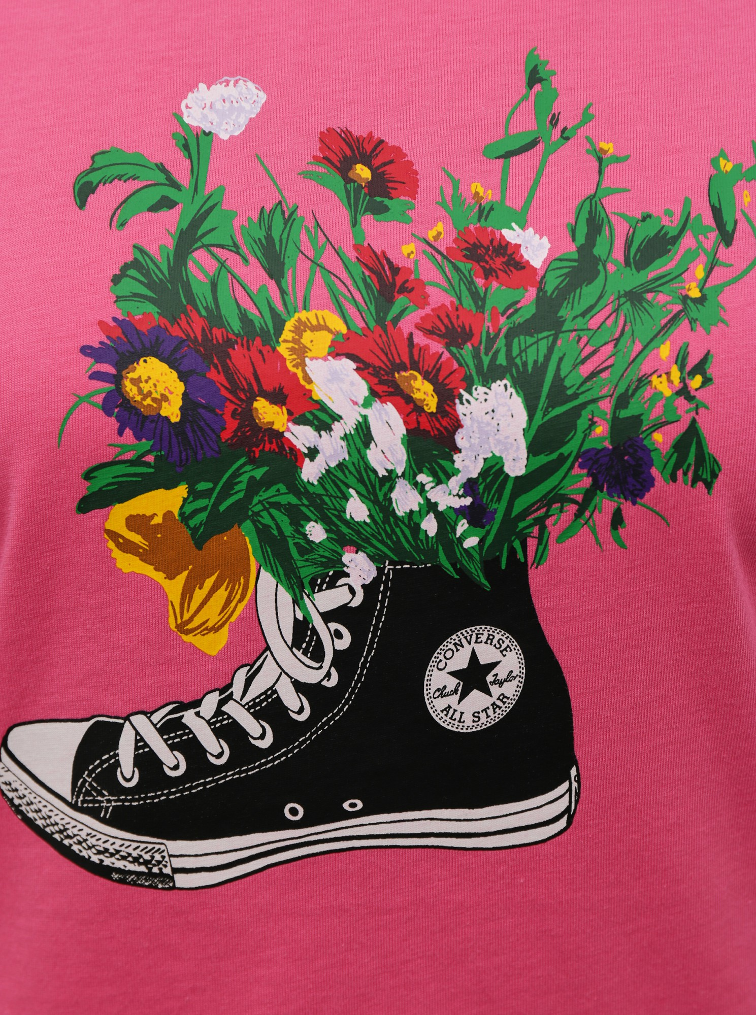 Converse roz tricou Flowers Are Blooming