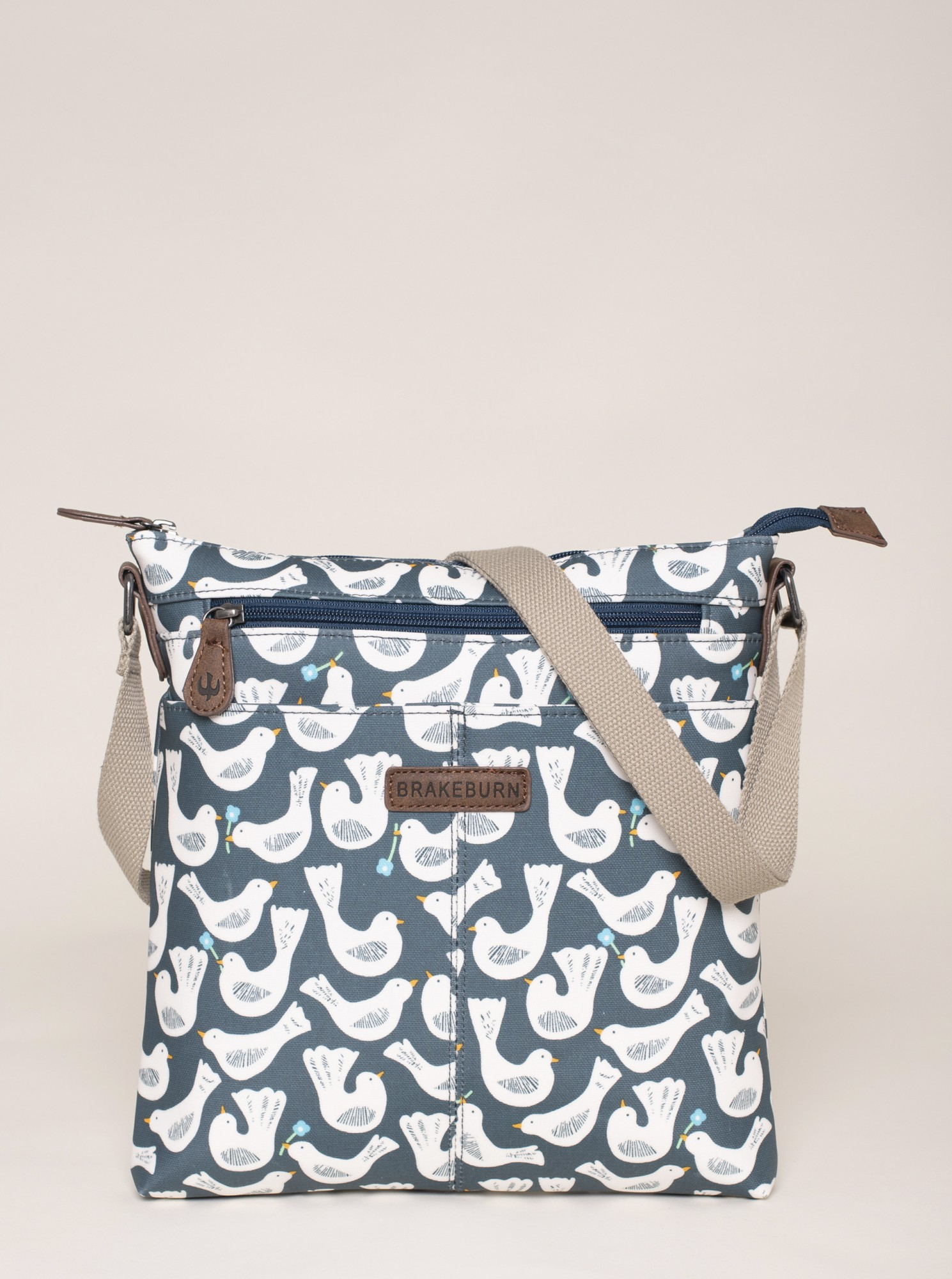Brakeburn albastre geanta se vzorem
