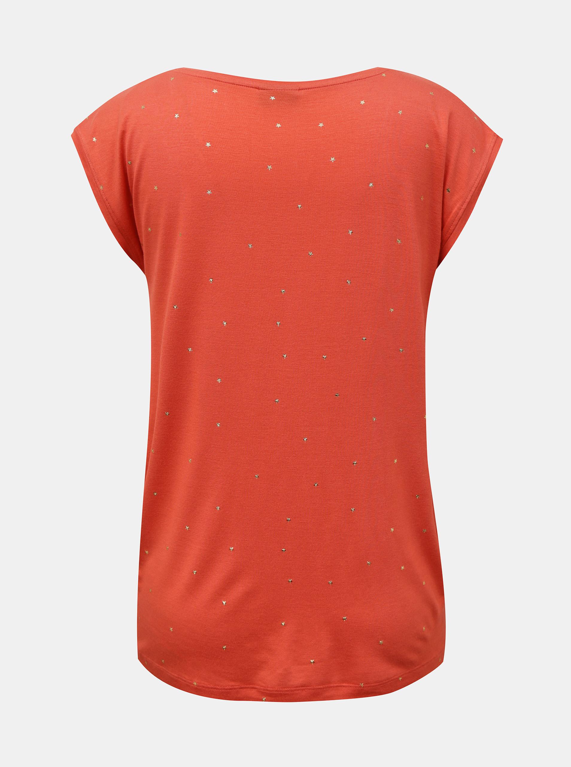 Pieces roz tricou Milly cu tipar