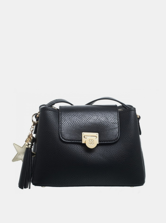 Bessie London negre crossbody geanta