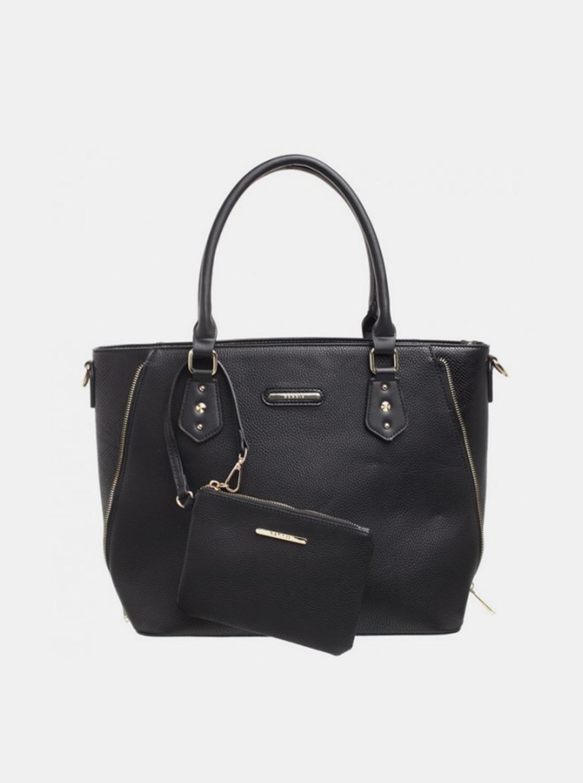 Bessie London negre 2in1 geanta