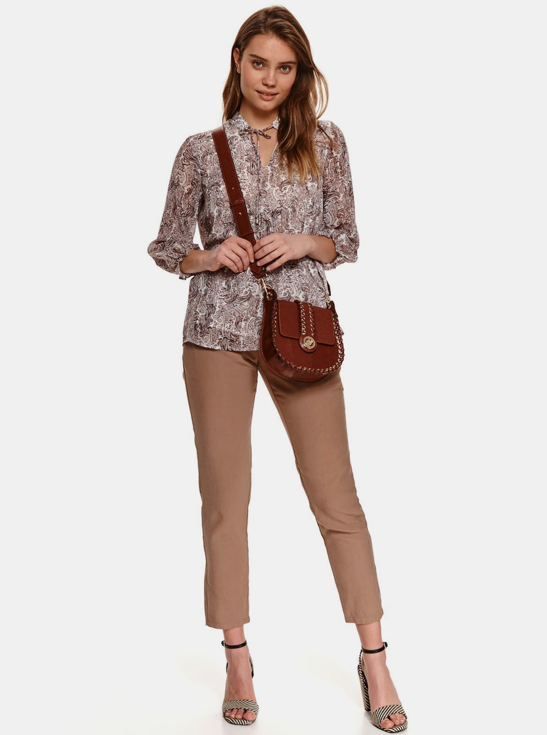 TOP SECRET maronii bluză cu tipar