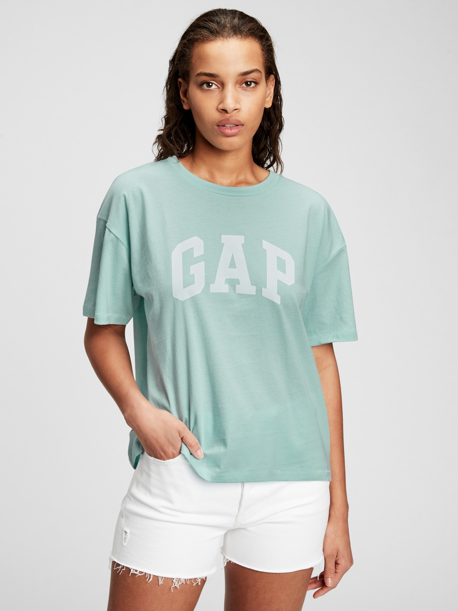 GAP albastre tricou cu logo alb